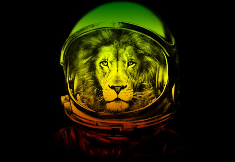 Astronaut Drawing - Astronaut Lion Colorful Ready For Space by Cameron Fulton