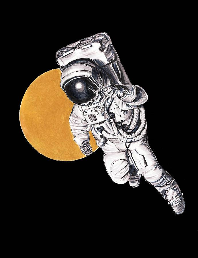 break dancing astronaut drawing - 691×900