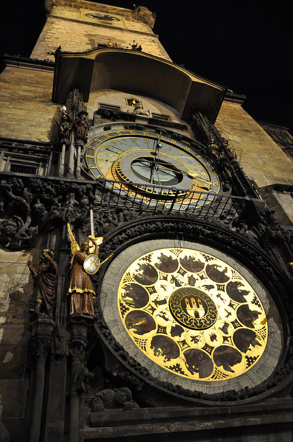 Prague Photograph - Astronomical Clock by Heidi Pix