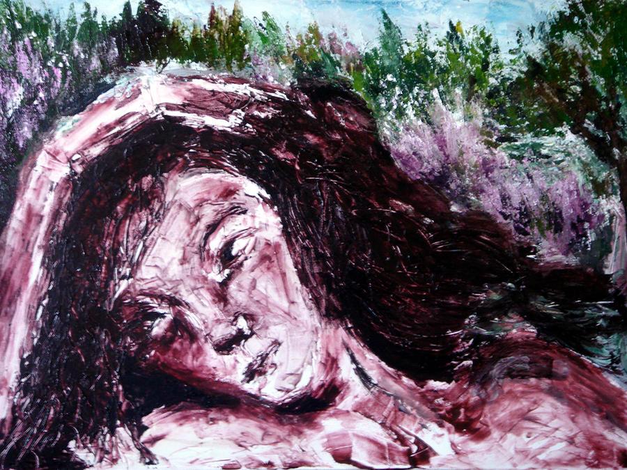 Portrait Painting - Asturian Siesta by Jenni Walford