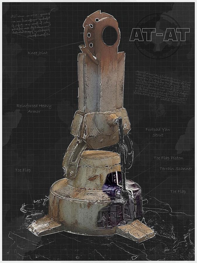 AT-AT Leg Blueprint by Ric Potvin