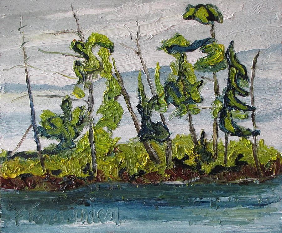 Landscape Painting - At Burbue Lake No 2 by Francois Fournier