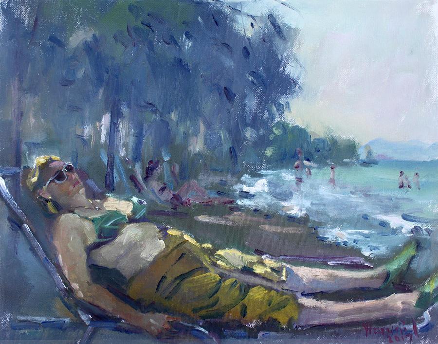 Greece Painting - At Dilesi Beach Greece by Ylli Haruni