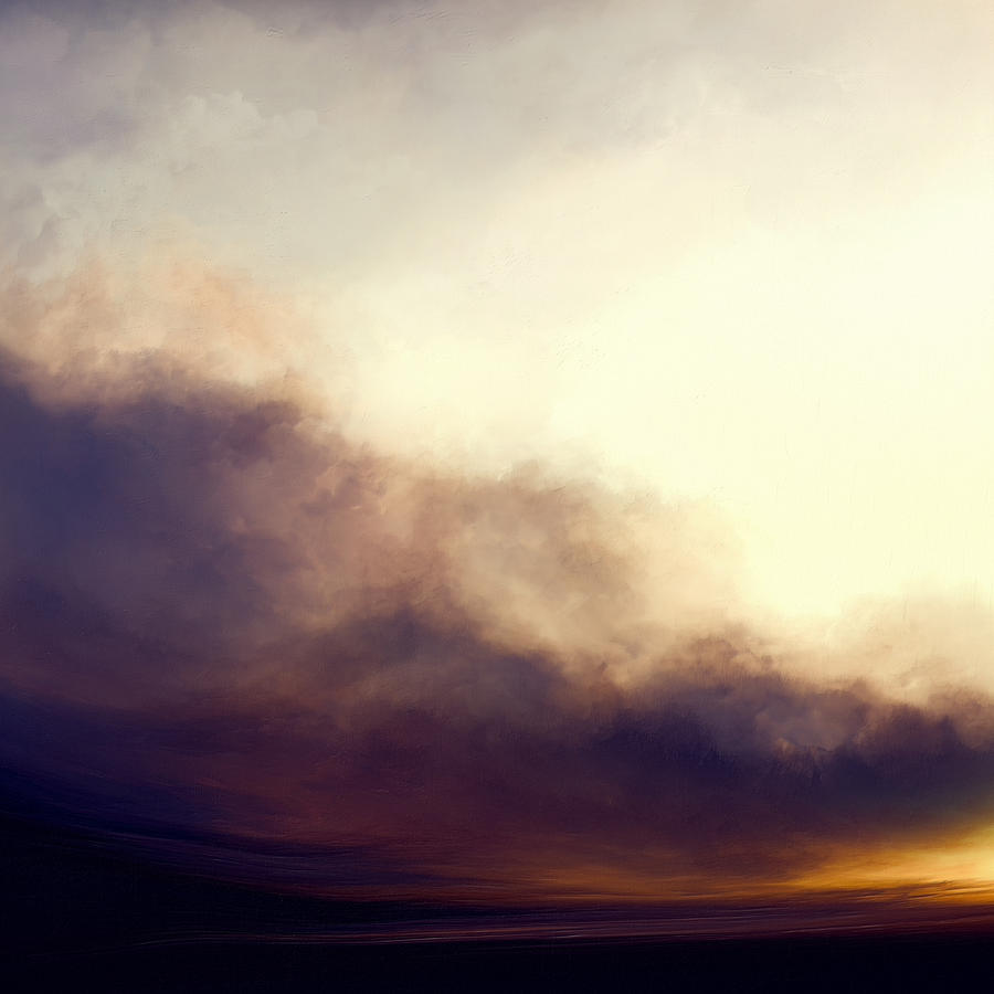 Atmosphere Painting - At Dusk by Lonnie Christopher