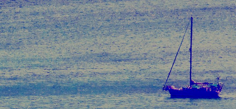 Boat Photograph - At Evening Anchor by Ian  MacDonald