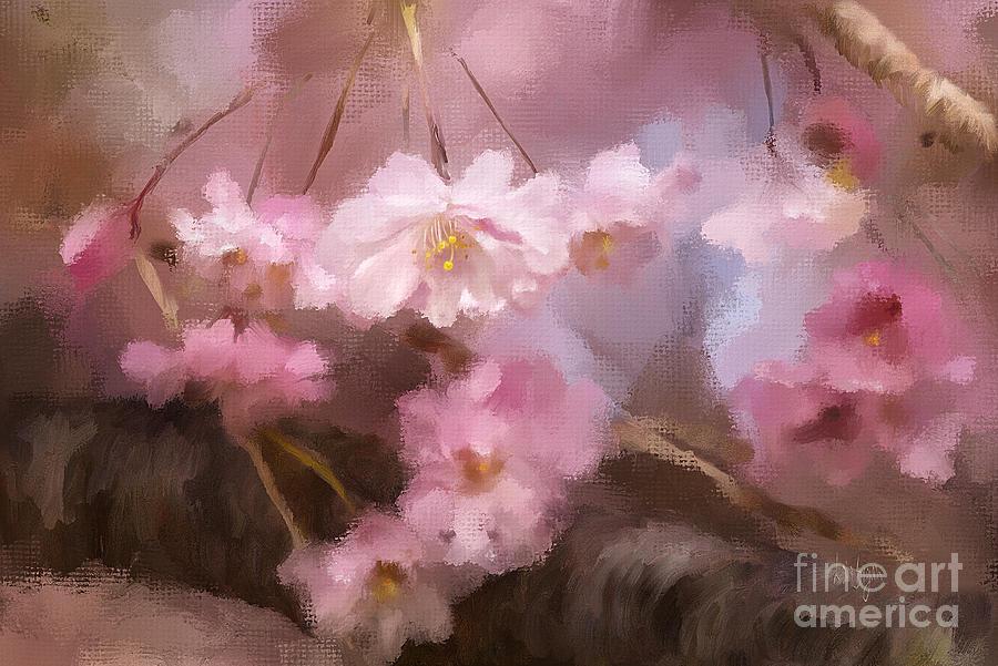 Cherry Tree Digital Art - At First Blush by Lois Bryan