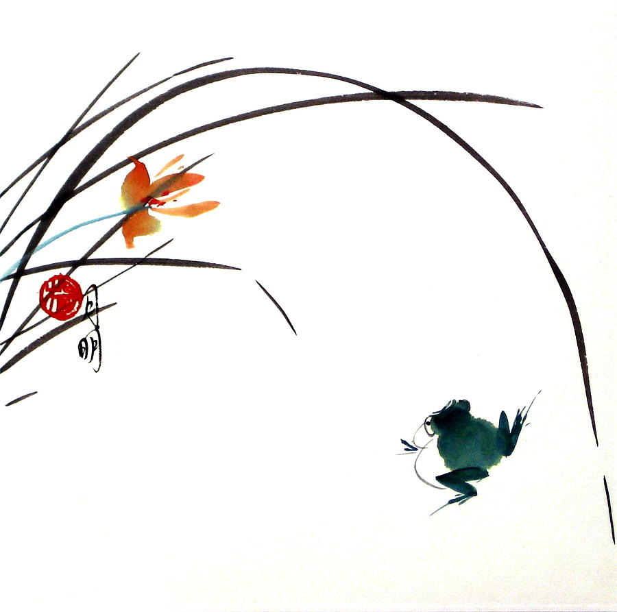 Chinese Painting Painting - At Gaze by Ming Yeung