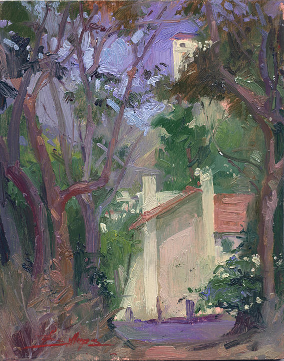 Plein Air Painting Painting - At Joureys End Plein Air by Betty Jean Billups