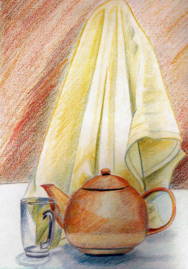 Pot Painting - At Kitchen by Zara GDezfuli