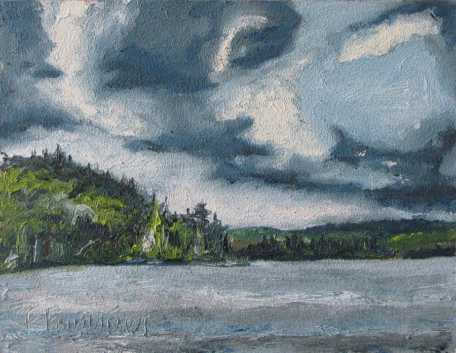 Landscape Painting - At Lake St-bernard by Francois Fournier
