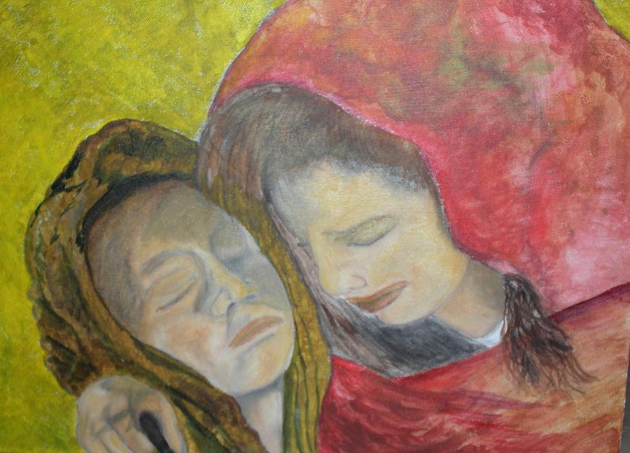 At Last They Sleep Painting