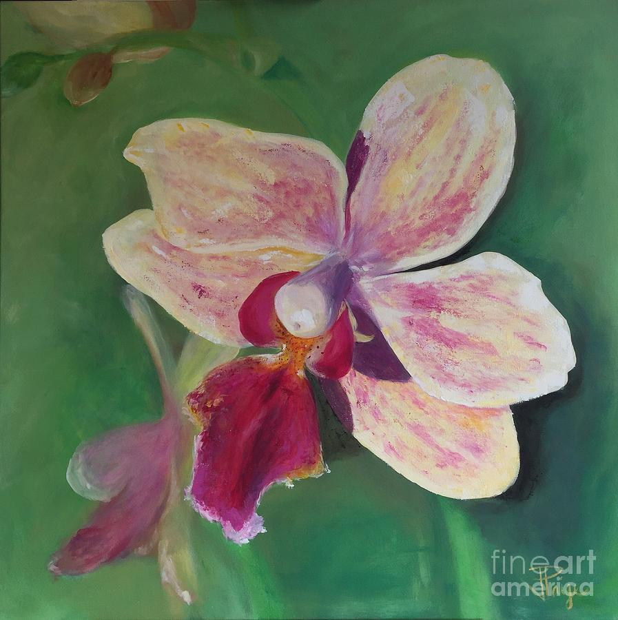 Orchid Painting - At Liberty by Julie Clanton