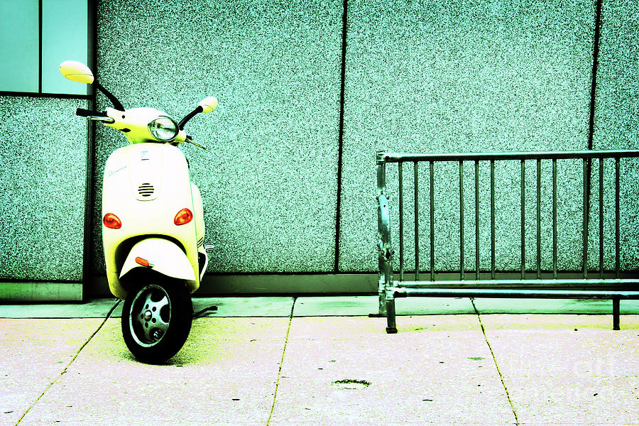 Vespa Photograph - At Lunch by Dana DiPasquale