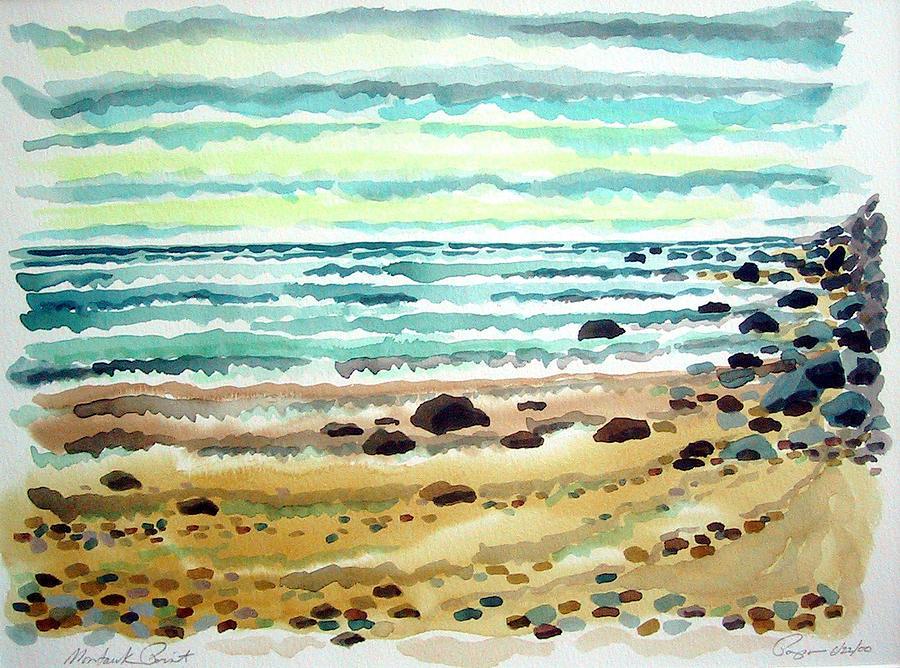 Ocean Painting - At Montauk by Ralph Papa