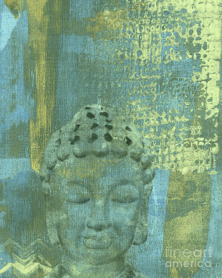 AT PEACE Abstract #2 Buddha by Hao Aiken