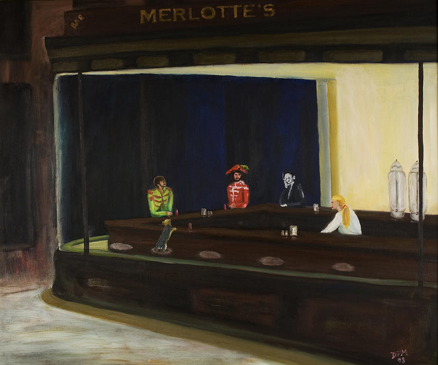 Nighthawks Painting - At Sams by David McGhee