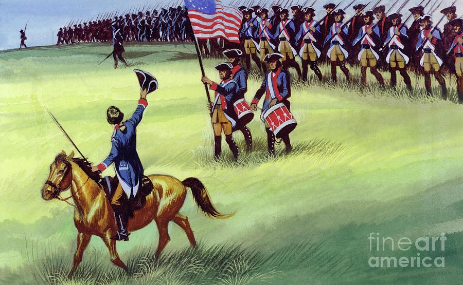 John Burgoyne Painting - At Saratoga The Colonists Won Victory by Ron Embleton
