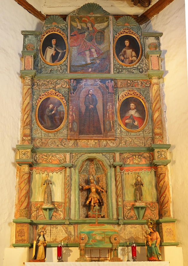 Alter Photograph - At The Alter San Miguel Mission Santa Fe New Mexico by Jeff Swan