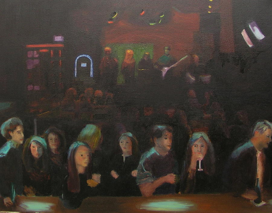 Tavern Painting - At The Bar by Gail Eisenfeld