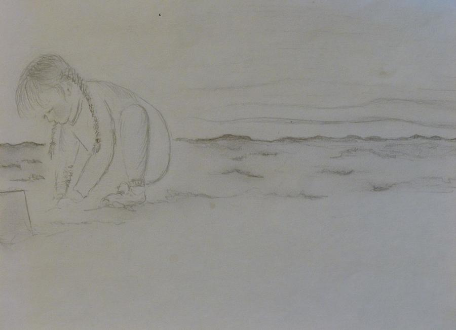 At The Beach Drawing