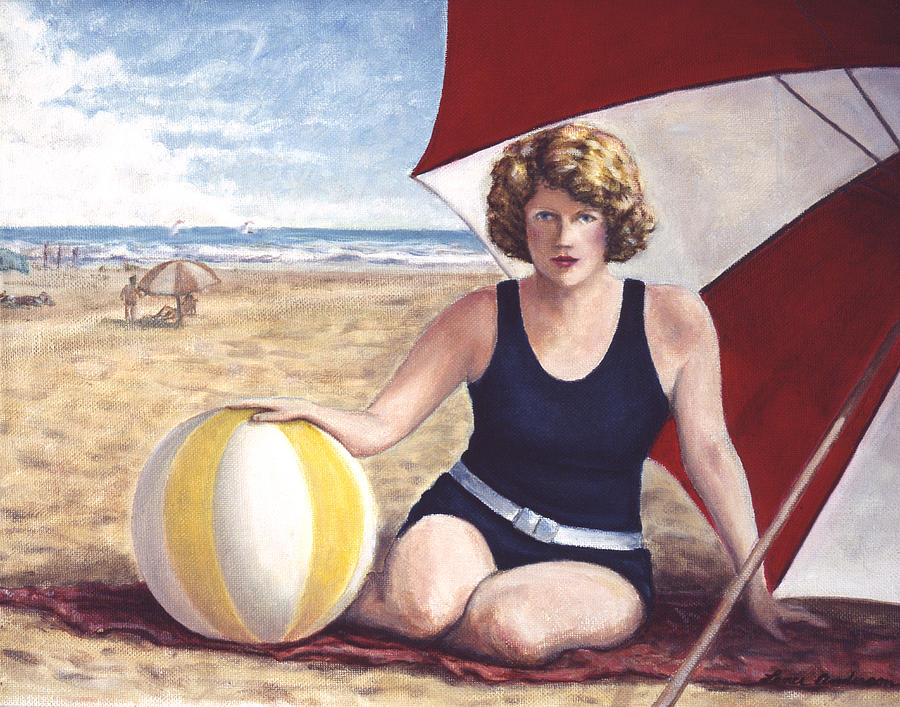 Beach Painting - At the Beach by Lance Anderson