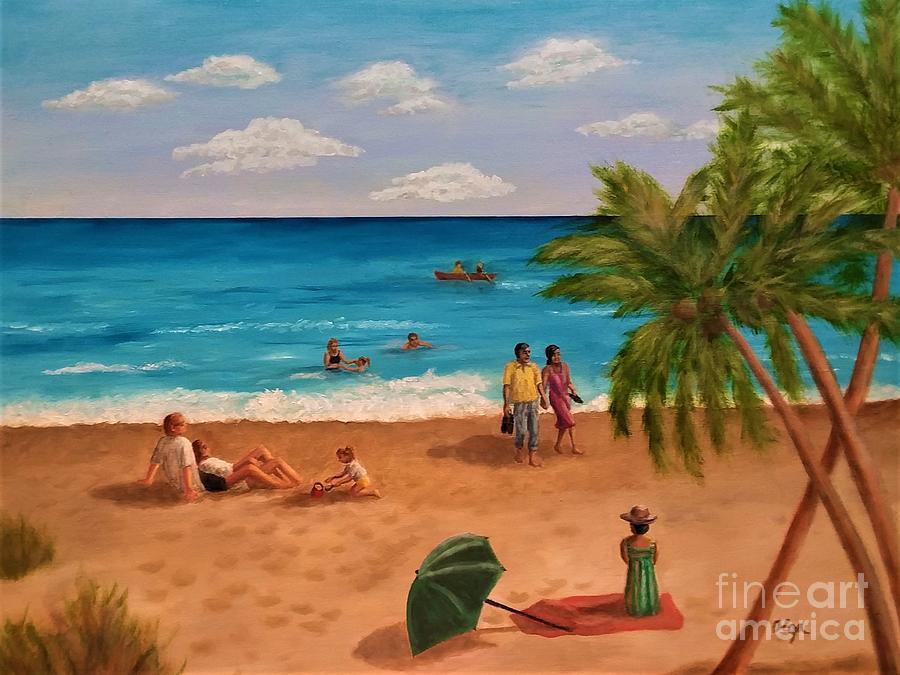 At the Beach by Olga Silverman
