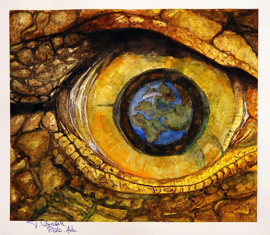 Eye Painting - At The Beginings by Ciocan Tudor-cosmin