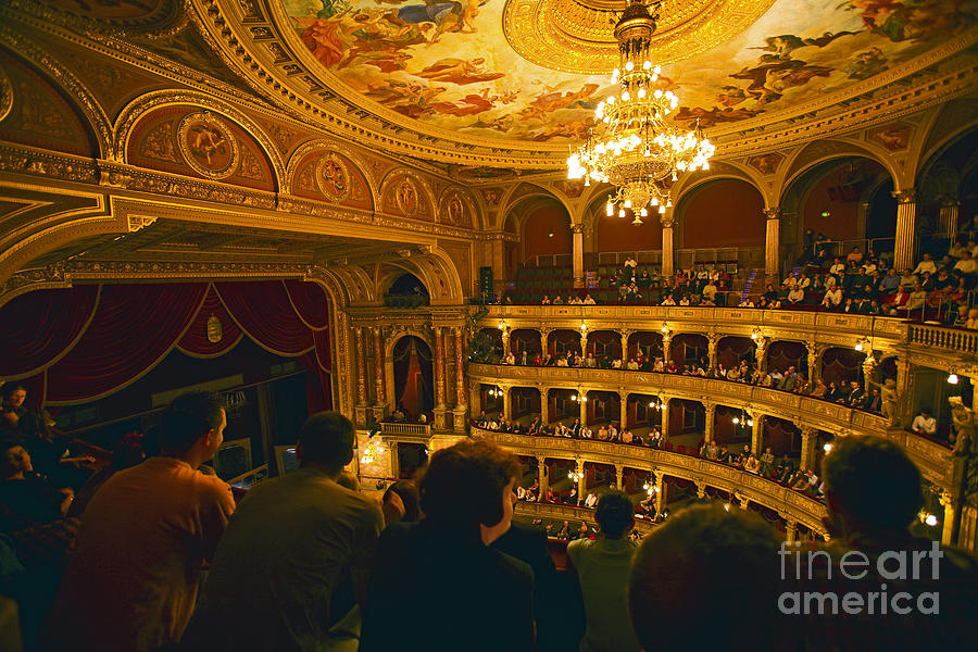 Opera House Photograph - At The Budapest Opera House by Madeline Ellis