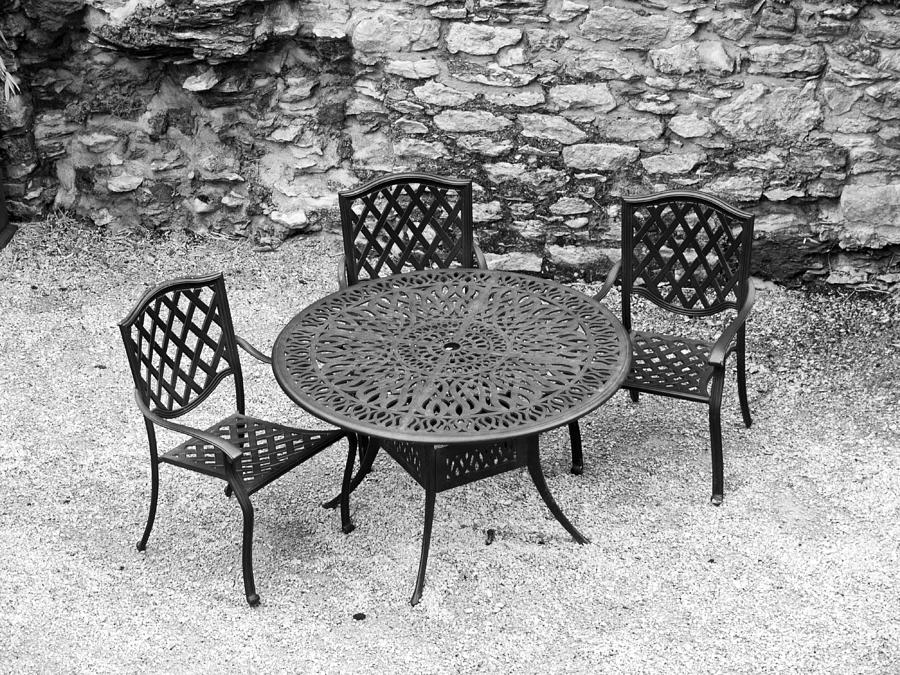 Table Photograph - At The Castle by Rae Tucker