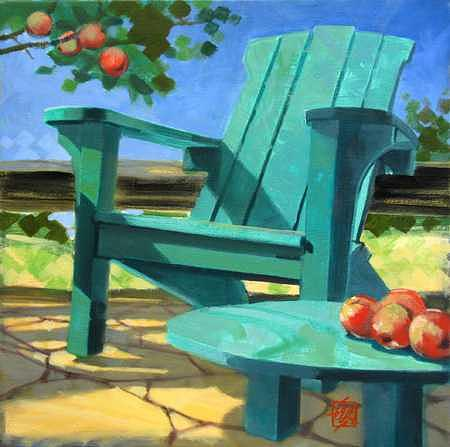 Painting Painting - At The Cidery - Iv by Ken Campbell