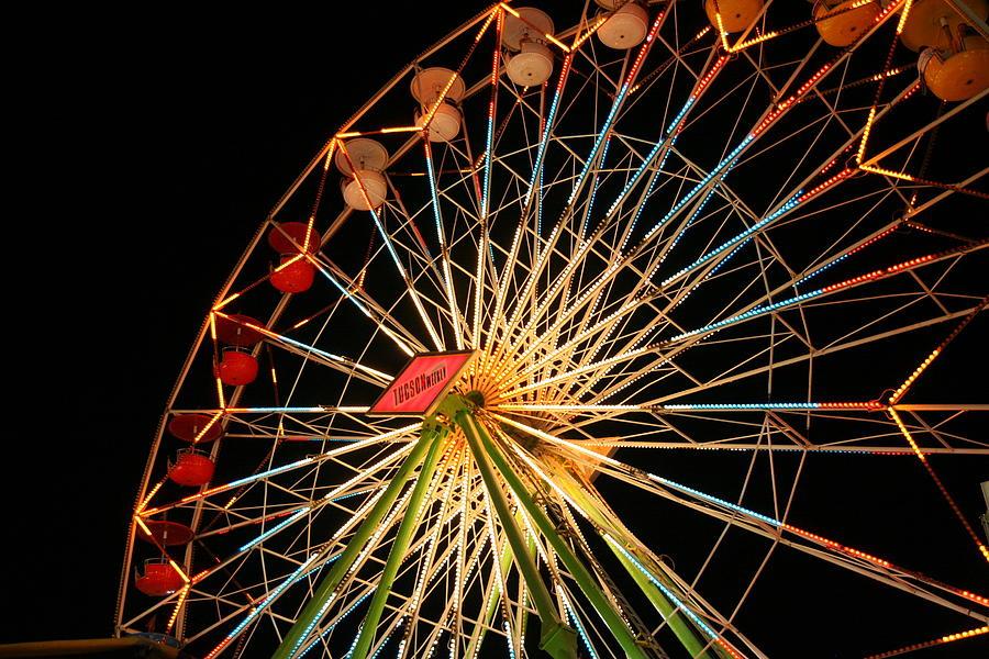 Ferris Wheel Photograph - At The County Fair by Joe Kozlowski