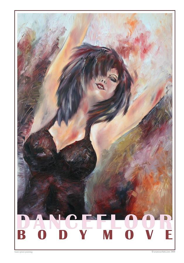 Girl Painting - At The Dancefloor by Harri Spietz