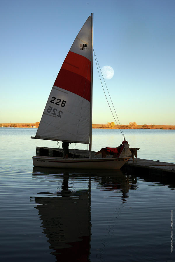 Sailing Photograph - At The Dock by Mark Ivins