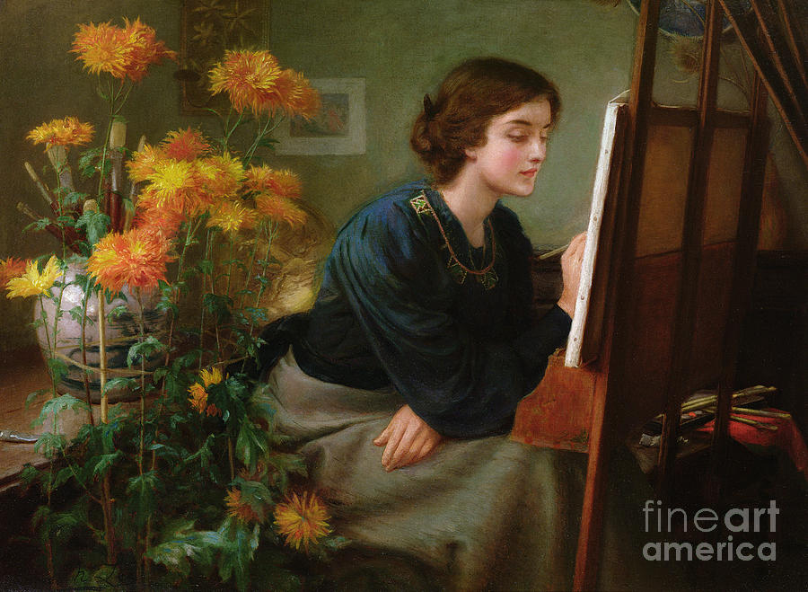 Painting Painting - At The Easel  by James N Lee