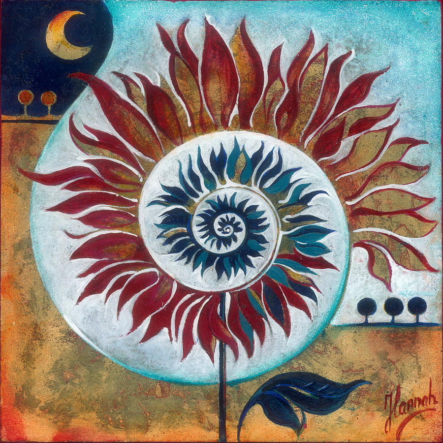 Flower Painting - At the Edge of Day and Night by Anna Ewa Miarczynska