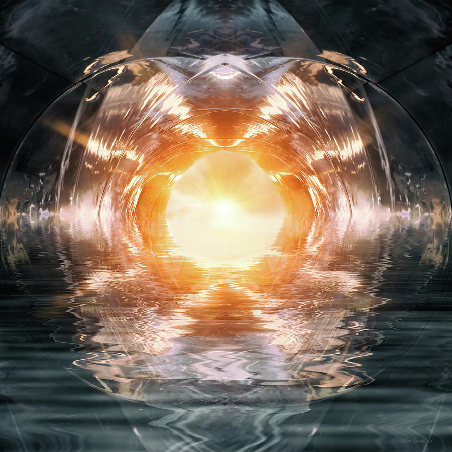 Abstract Digital Art - At The End Of The Tunnel by Wim Lanclus
