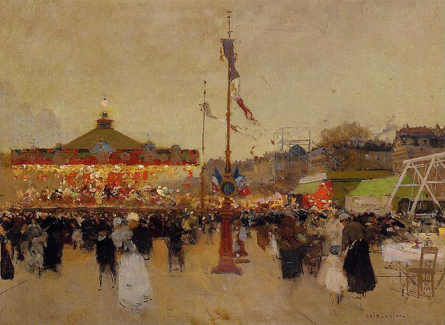 Attractions Painting - At The Fair  by Luigi Loir