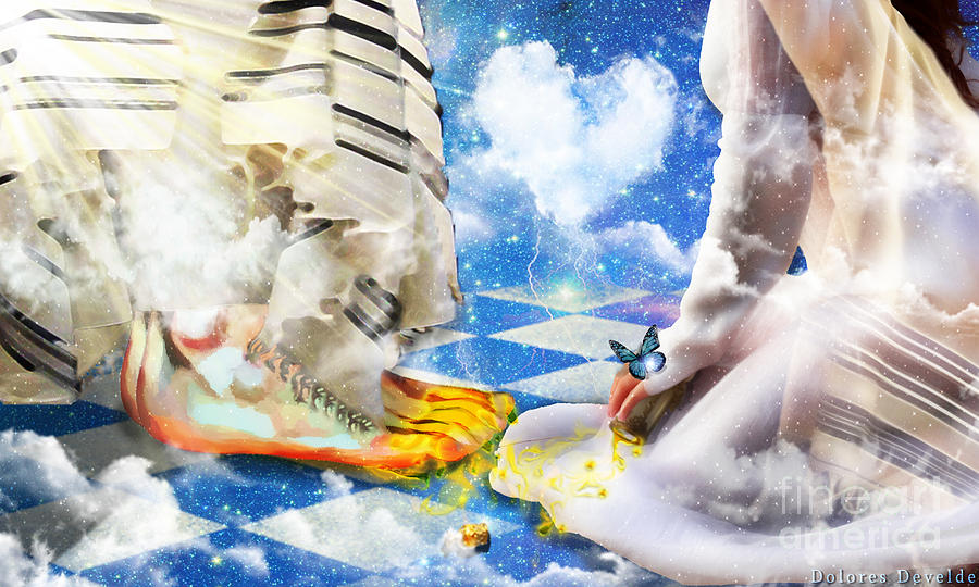 At The Feet Of Jesus Digital Art By Dolores Develde