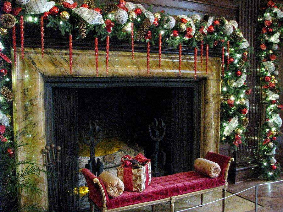 Love Seats Photograph - At The Hearth Of Christmas by Angela Davies