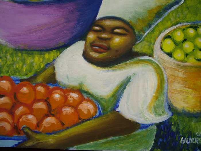 Painting Painting - At The Market by Jan Gilmore