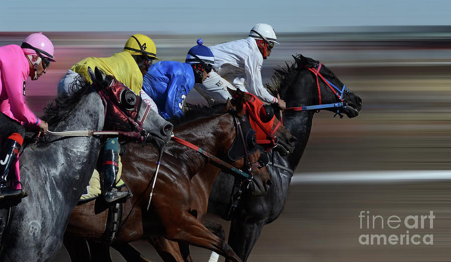 Race Photograph - At The Racetrack 1 by Bob Christopher