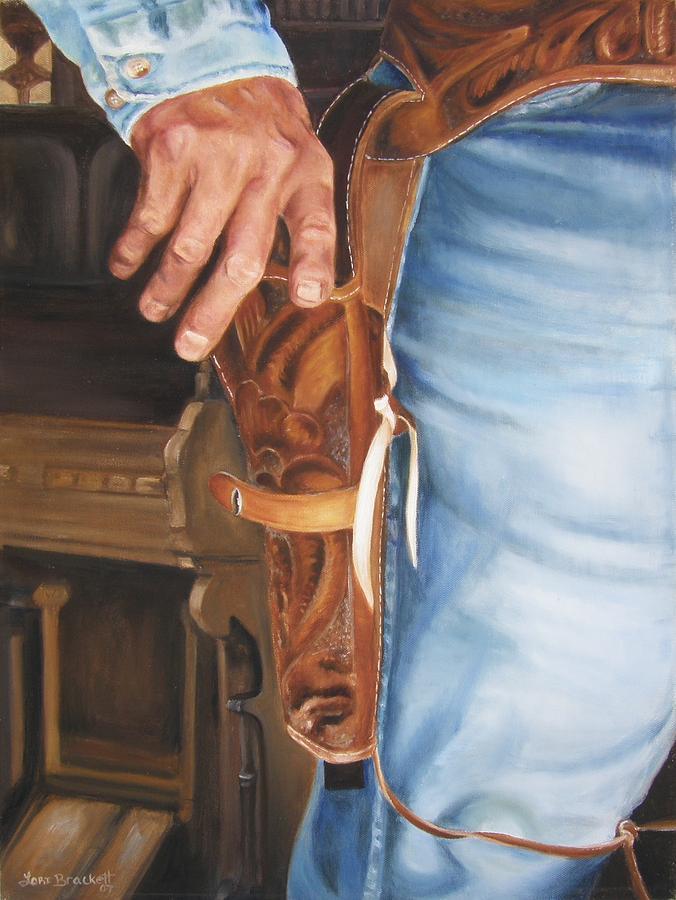 Cowboy Painting - At The Ready by Lori Brackett