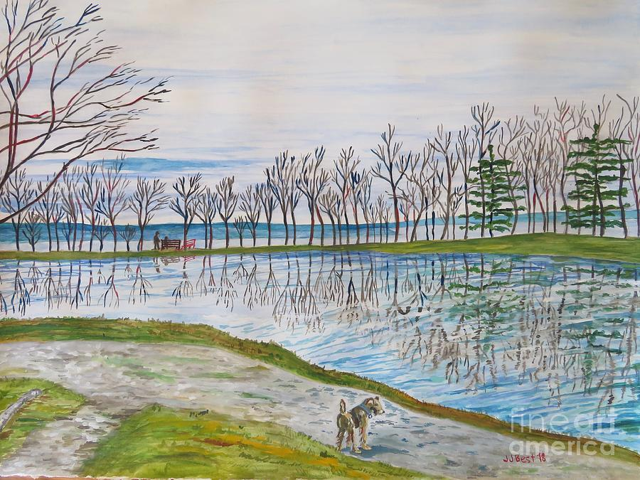 At the reservoir by Janice Best