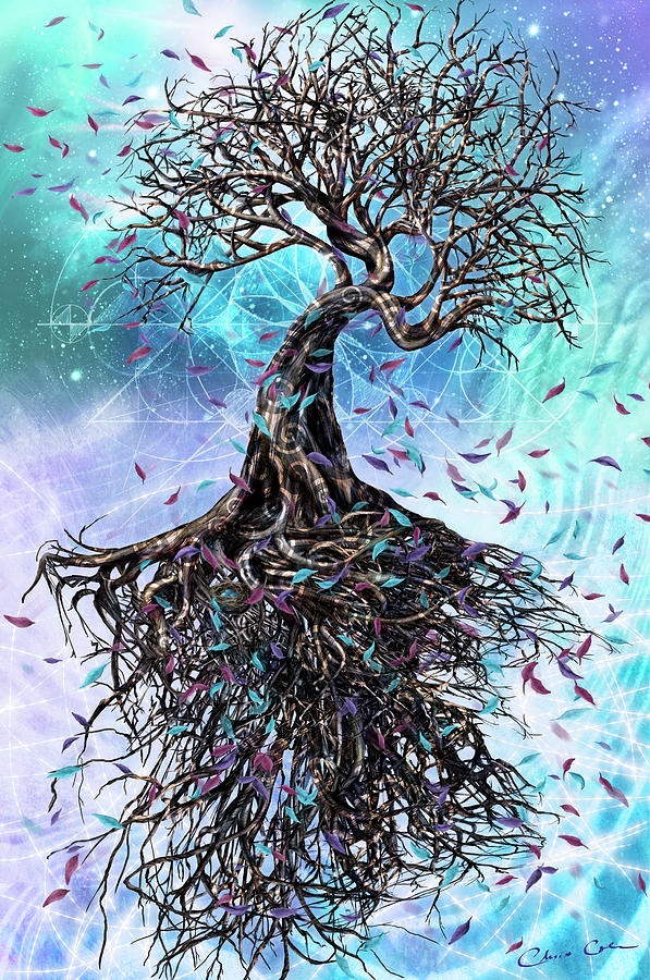 Tree Mixed Media - At the Root of All Things by Chris Cole