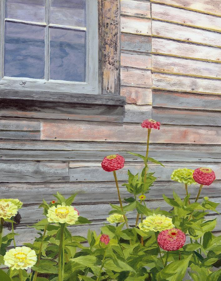 Weathered Wood Painting - At The Shelburne by Lynne Reichhart
