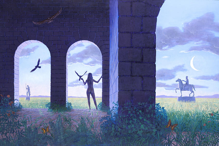 Landscape Painting - At The Threshold by Jonathan Day