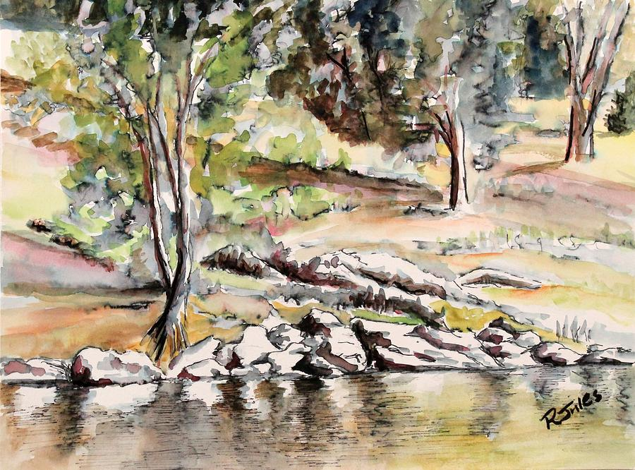 Peace Painting - At The Waters Edge by Richard Jules