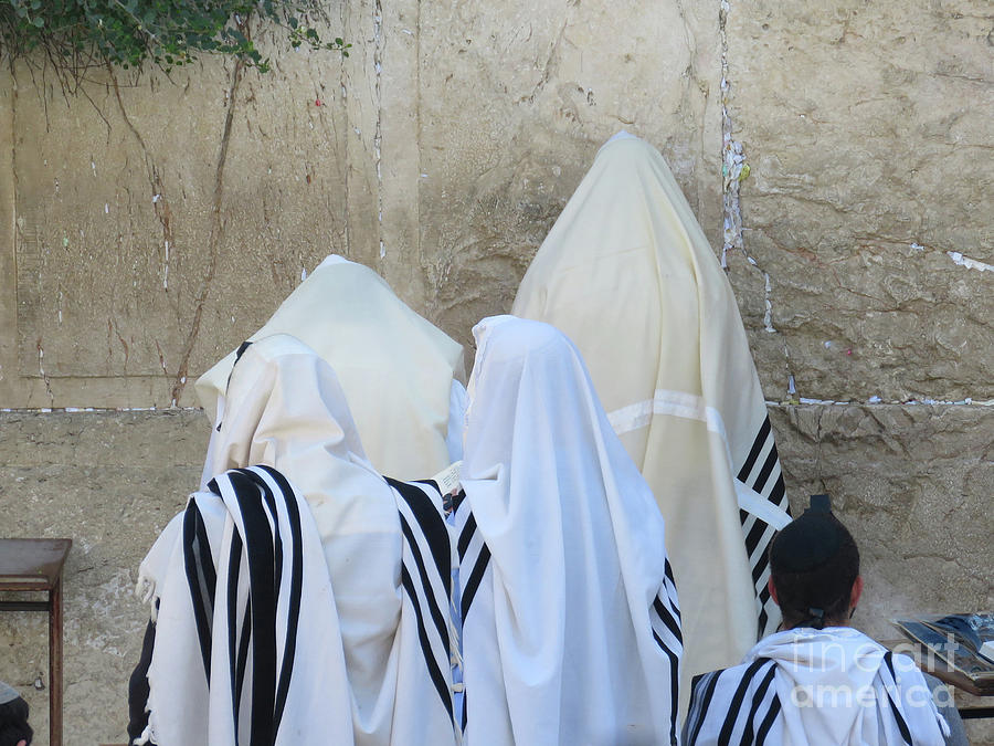 Western Wall Photograph - At The Western Wall by Maxine Kamin
