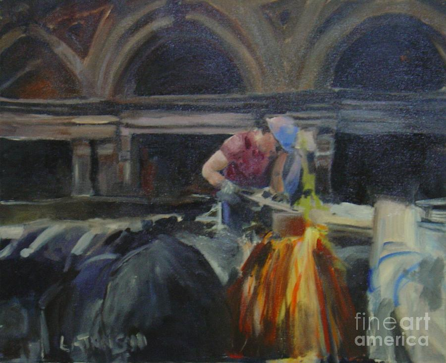 At Work Painting by Leila Atkinson