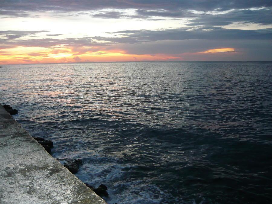 Atardecer En El Mar Photograph by Carmen Mariela Pitti S